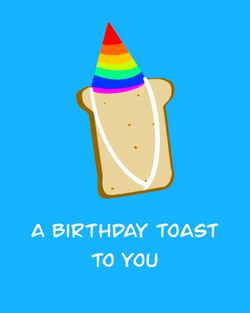 Use a birthday toast to you