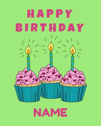 Use customisable happy birthday cake